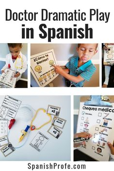 Dramatic Play unit (juego dramatico) in Spanish for students in bilingual, or Spanish immersion classes or Spanish class. This article includes center and activity ideas to use and set up a center or unit in your class. Printables and posters for this doc