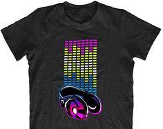 DJ Head Phones T-Shirt H4 - Mens Funny Tshirt Humorous Rude Birthday Gift Comedy Quality, Christmas Present