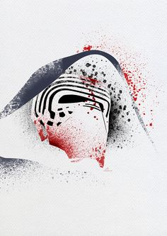 My new paint splatter serie with star wars characters