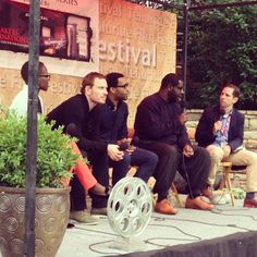 | Telluride -- 12 YEARS A SLAVE | Lupita Nyong'o, Michael Fassbender, Chiwetel Ejiofor and Steve McQueen answering questions at the festival