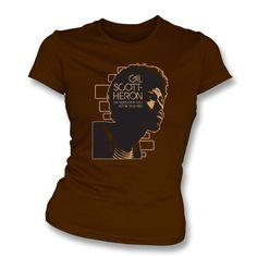 Gill Scott Heron The Revolution will not be televised Women's Slimfit T-shirt - TShirt Grill