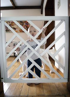 DIY Geometric Baby Gate More