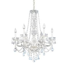Six Light Crystals Chandeliers