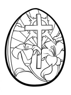 Excellent Picture of Easter Egg Coloring Page . Easter Egg Coloring Page Easter Egg Coloring Pages Printable Lilies And Cross Easter Egg Easter Coloring Pages Printable, Easter Egg Coloring Pages, Spring Coloring Pages, Bible Coloring Pages, Adult Coloring Pages, Kids Coloring, Easter Egg Printables, Coloring Books, Easter Worksheets