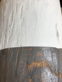 Eichenstamm gestrichen
