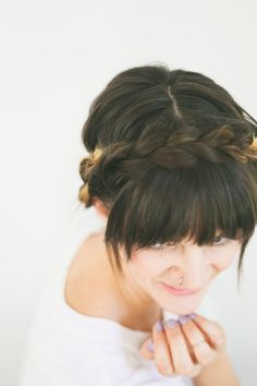 Braided Crown hair tutorial, makes it easy for even short hair