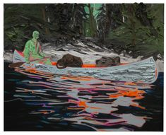 Kim Dorland's Untitled (Painter in a Canoe), 2013