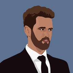 New party member! Tags: illustration nick the bachelor finale nick viall