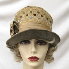 9858ad321aa Creations by Gail Vintage Style Hats Edwardian to the 1920 s Cloche.  Vintage Style Fabric Hat with a ...