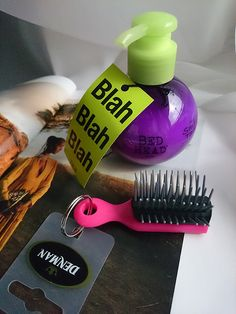 TIGI BEDHEAD Mini Small Talk  - Thikifier Energiser and Stylizer DENMAN Mini Keyring Brush - for the on-the-go styling touch-ups LookFantastic Beauty Box - February #LFLOVES  valvybes.com
