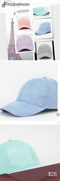 """🆕BASEBALL CAP🆕 Athleisure is all the """" RAGE"""" , and this baseball cap blends lush faux suede with a sporty design for a casual chic look.  * 23"""" max circumference * 3"""" brim * adjustable * 100% polyester girlcavecentral Accessories Hats"""