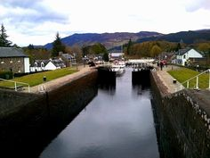 Caledonian Canal locks in Fort Augustus in the Scottish Highlands