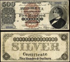 1880 Five Hundred Dollar Silver Certificate