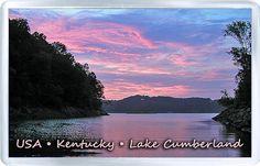 $3.29 - Acrylic Fridge Magnet: United States. Kentucky. Lake Cumberland