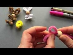 Easy Pipe Cleaner Bunny Craft How To - YouTube