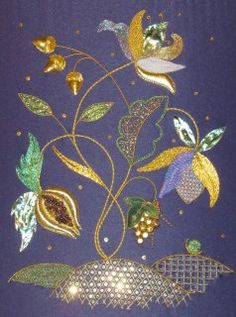 Tree of Life - new Jacobean styled Goldwork embroidery design by Alison Cole Embroidery - www.alisoncoleembroidery.com.au