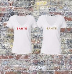 SANTE - Bronze & White - V Neck Tshirt - This organic cotton slub T-shirt is a classic easy to wear design! With a deep round neck, raw edged collar, this tee is perfect for hanging loose over skinny pants or tucked into a skirt or high wais White V Necks, Skinny Pants, Organic Cotton, Bronze, T Shirts For Women, Tees, Skirts, How To Wear, Clothes