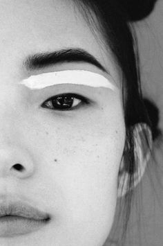 A graphic line could be a really modern interpretation of a winged liner, which skews retro