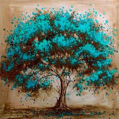 I love tree art and this one has depth, passion and substance. Hand Painted Modern Tree Art Decoration Oil Painting On Canvas Landsacpe Wall Pictures For Living Room Decor Oil Painting Abstract, Painting & Drawing, Diy Painting, Tree Painting Easy, Tree Of Life Painting, Painting Portraits, Painting Videos, Creative Painting Ideas, Painting Styles