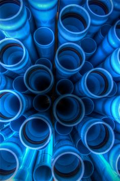 PVC Pipes - amazing what beauty a good eye can find.