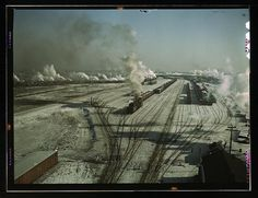 Railway in Chicago in the 1940s
