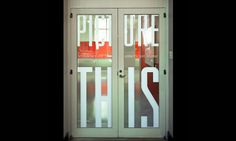 Door Graphics, Picture This: Windows on the American Home, National Building Museum, Matter Practice/MGMT. #SEGD