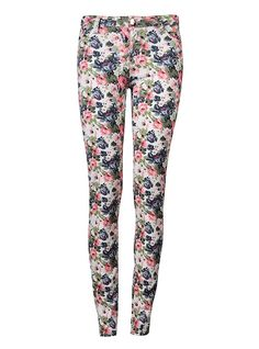 FLORAL SKINNY JEANS...now at The Happy Sol!