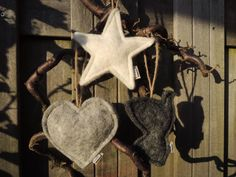 Unieke hangers (kerst) van handmade wolvilt (wolvilt / vilt / felt / christmas)