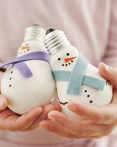 adornos de navidad caseros - bombillas