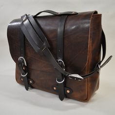Emil Erwin handcrafted leather bag. $1100