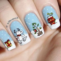 Christmas Nail Art Designs - 47 Christmas Nail Art Designs to Inspire You! Find them all right here -> http://www.nailmypolish.com/christmas-nail-art-designs/