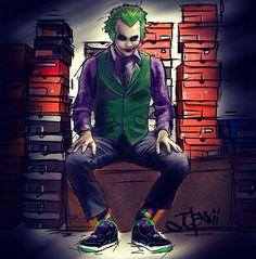 Joker in J's artonfire by Jazerai Lord