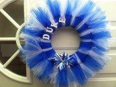 DIY Duke door wreath -- I will be making this