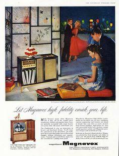 MAGNAVOX Radio Phonograph Television Ad - 1957