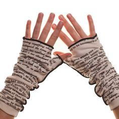 Persuasion Writing Gloves..many other literary works to chose from..also great scarves & pillows!