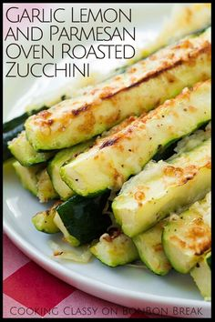 Garlic-lemon oil and a healthy dose of Parmesan cheese add great flavor to this simple, flavorful summer zucchini recipe. Add this Garlic Lemon on Oven Roasted Zucchini Recipe to your summer recipe rotation.