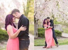 Cincinnati Engagement Pictures, Cincinnati Engagement, Cincinnati Wedding Photographers, Purple Hair, Eden Park