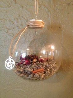 Old English Witch's Ball  Hung in a window (Traditionally east facing) for protection, happiness and luck Wiccan Crafts, White Witch, Sabbats, Practical Magic, Kitchen Witch, Pagan Christmas Tree, Book Of Shadows, Yule Ball, Pagan Witch