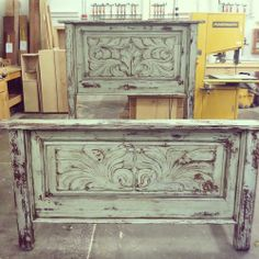 Rustic distressed Bed