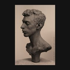 portrait study - clay . #societyportraitsculptors - #sculpture - #portrait - #portraitsculpture - #clay - #claysculpture - #jeandavidsolon