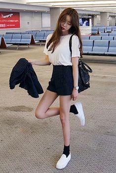รูปภาพ kstyle, asian fashion, and kfashion korean fashion shorts, korean airport fashion women Bermudas Fashion, Korean Fashion Shorts, Korean Fashion Trends, Summer Fashion Trends, Korea Fashion, Summer Fashion Outfits, Asian Fashion, Trendy Fashion, Ulzzang Fashion Summer