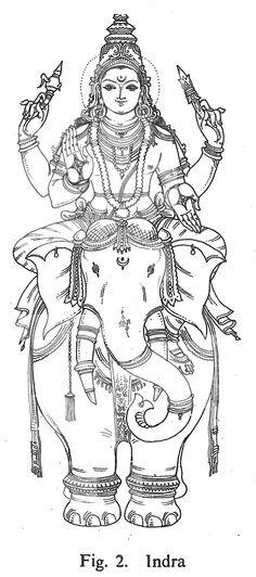 Indra Outline Art, Outline Drawings, Art Drawings, Indiana, Dancing Ganesha, Lord Ganesha Paintings, Tanjore Painting, Basic Drawing, Indian Folk Art