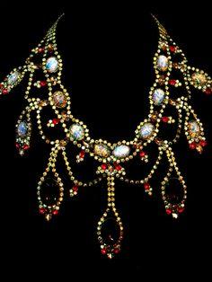 Vintage Czechoslovakian Rhinestone Necklace  $225.00