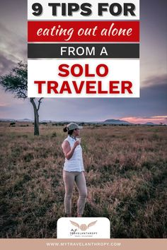 Click here to get 9 tips for eating out alone as a solo female traveler. If the idea of eating at a restaurant solo worries you, use these solo female travel tips to feel more comfortable eating in a restaurant alone. | solo travel tips | female solo travel tips | how to travel solo female | how to plan solo travel | how to travel by yourself | Solo Travel Quotes, Solo Travel Tips, Solo Vacation, African Safari, Travel Alone, Africa Travel, Travel Abroad, Travel Essentials, Family Travel