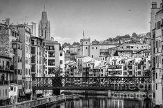 Classic Girona View BW by Joan Carroll
