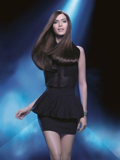 The Steampod was used to create this smooth mirror-like shine hair style