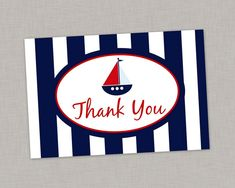 50% OFF Nautical Thank You Card Nautical Birthday Nautical Baby Shower Printable #NauticalBabyShower printable thank you card baby shower printable thank you nautical nautical thank you thank you card DIY boy thank you card sailboat thank you sailboat nautical sailboat sailboat baby shower sailboat birthday 1.50 USD thepaperblossomshop