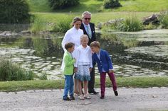 Prince Aymeric, Princess Louise, Prince Nicola, Princess Claire and Prince Laurent of Belgium