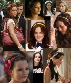 In the first two seasons, headbands were the most prominent feature of Blair's costume. She has abandoned them now that she has grown up but that does not mean that you can't be inspired by them. Blair had hundreds of stylish headbands in all possible textures from tartan to silk and ranging from the oh-so-pretty to the downright outrageous.