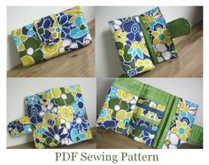 trifold wallet pdf sewing pattern by susiedesigns